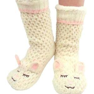 NEW Jane and Bleecker Bunny Anti Slip Socks